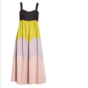 Kate Spade scallop colorblock midi dress